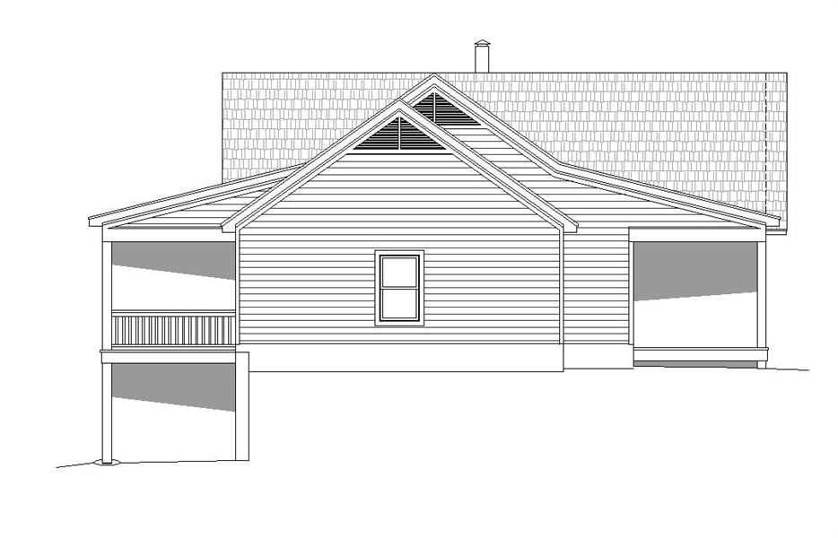 Left Elevation image of Greers  Ferry House Plan