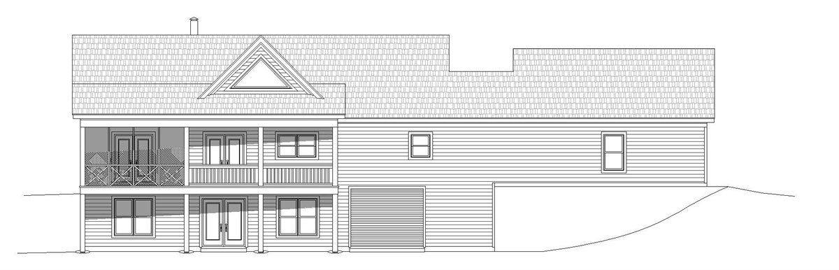 Rear Elevation image of Greers  Ferry House Plan