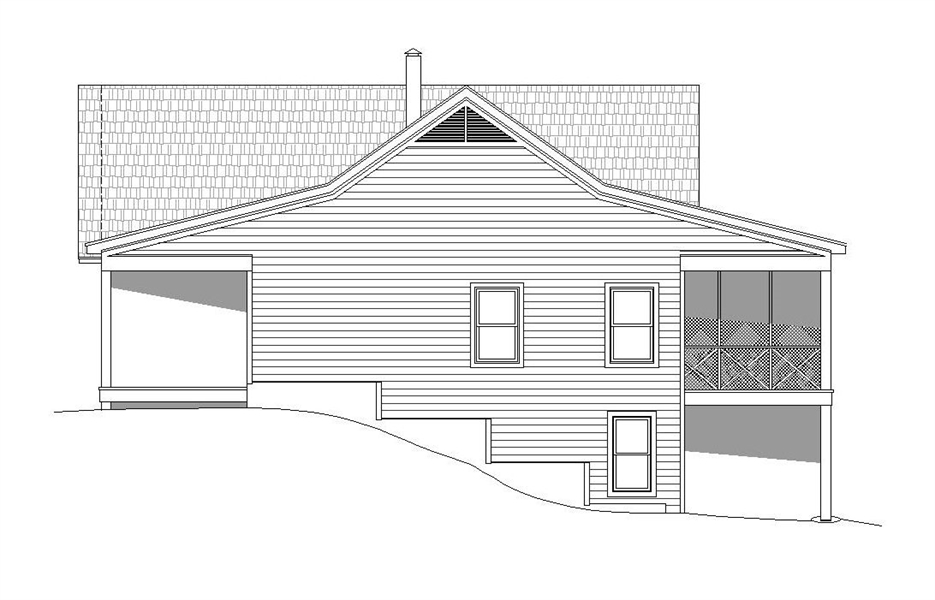 Right Elevation image of Greers  Ferry House Plan