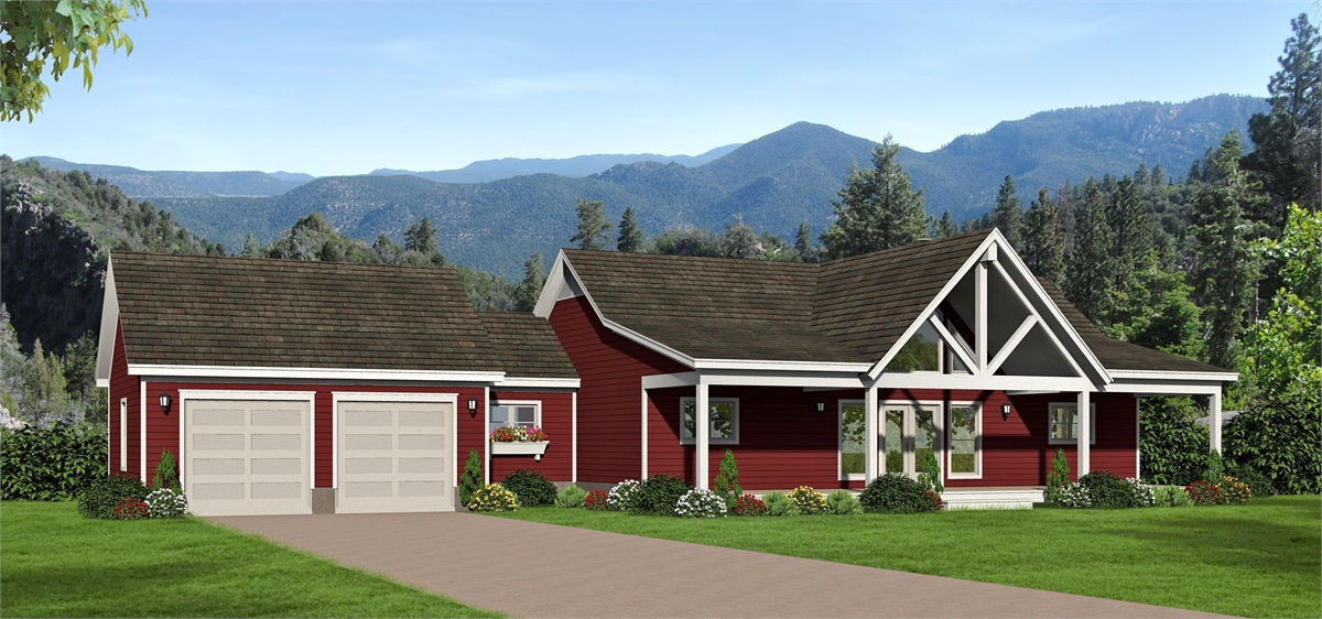 Front Rendering image of Greers  Ferry House Plan