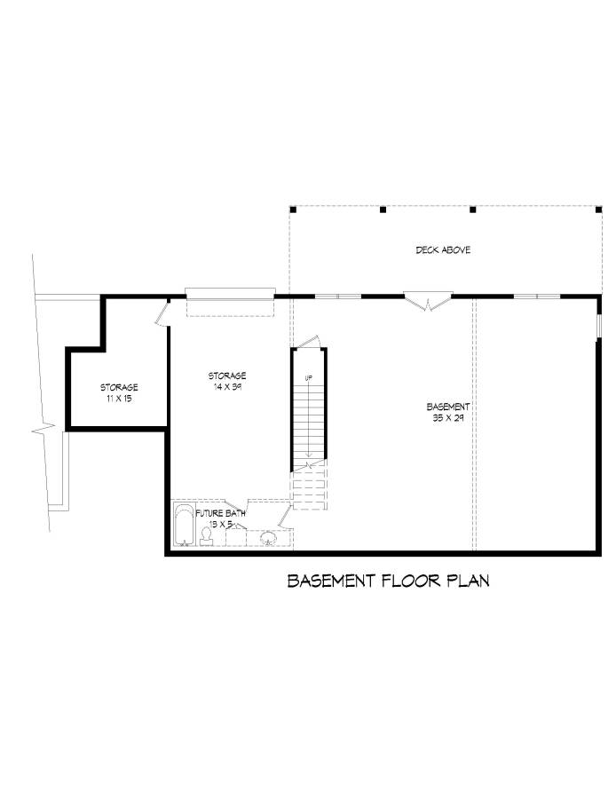 Basement image of Greers  Ferry House Plan