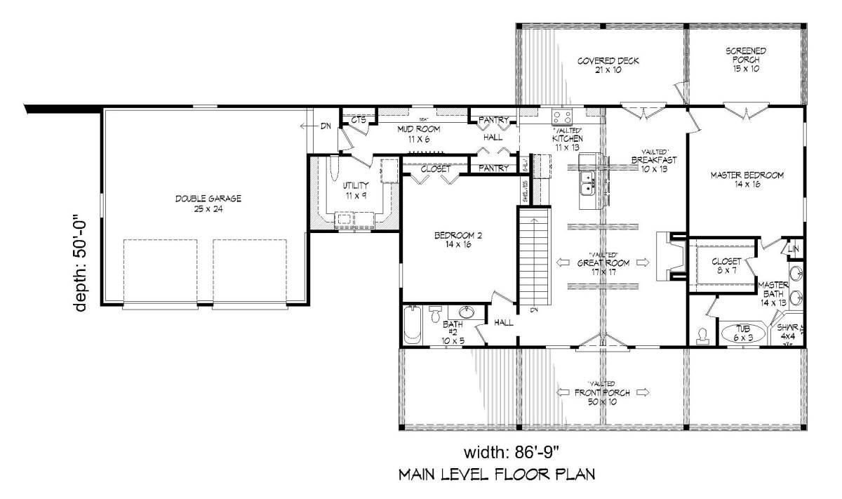 1st Floor Plan image of Greers  Ferry House Plan