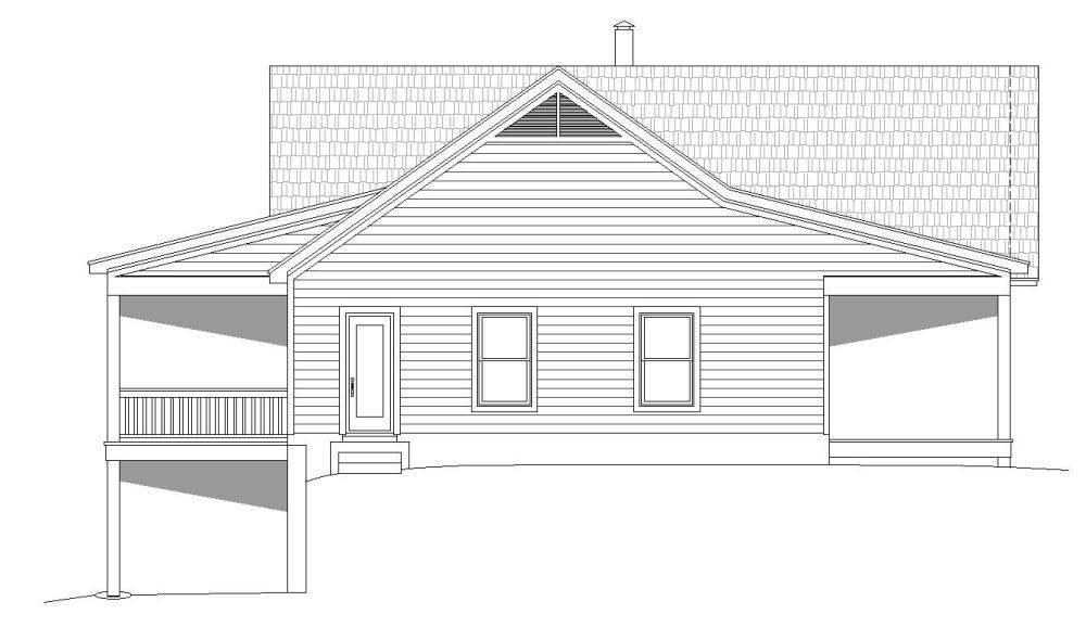 Left Elevation image of Plan 7519