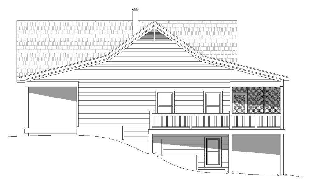 Right Elevation image of Plan 7519