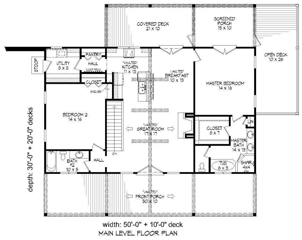 1st Floor Plan image of Plan 7519