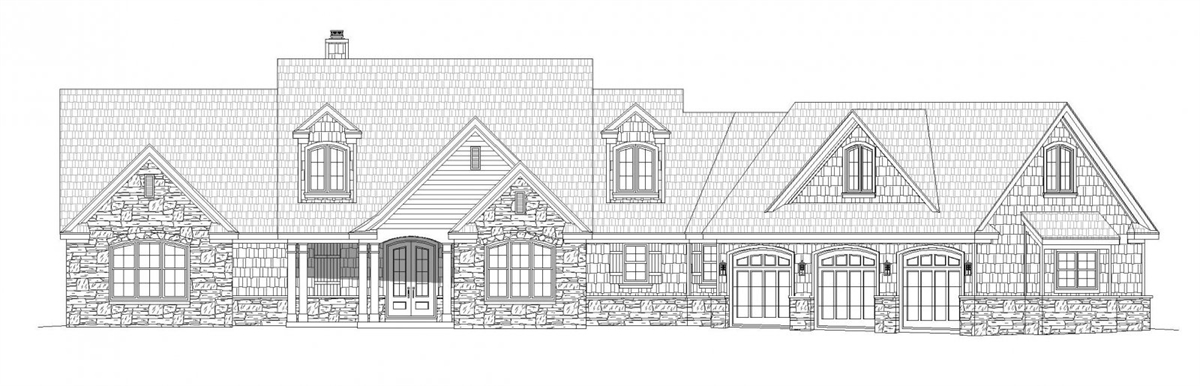 Front Elevation image of Chadwick House Plan
