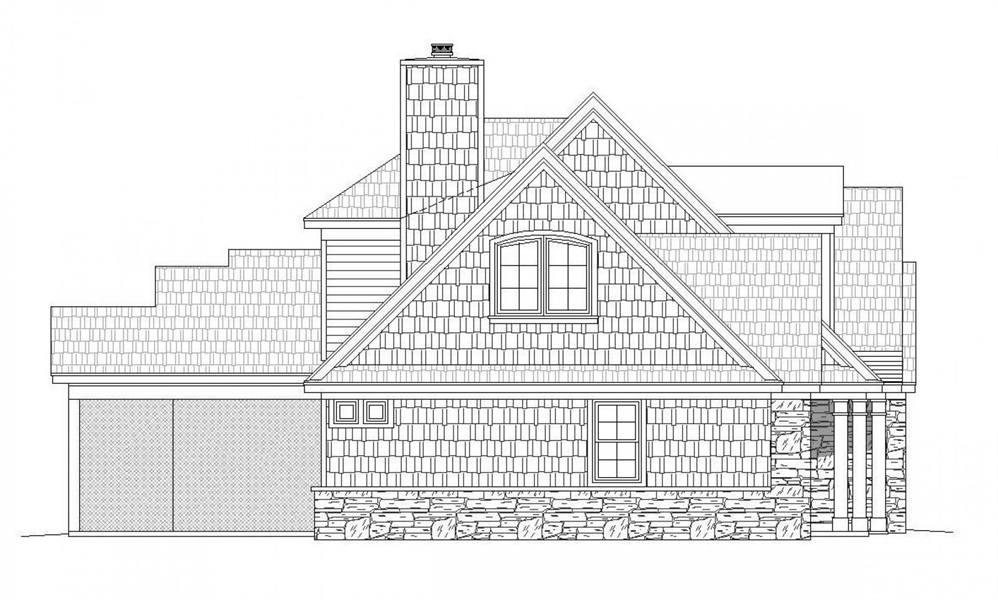 Left Rendering image of Chadwick House Plan