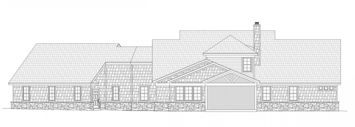 Rear rendering image of Chadwick House Plan