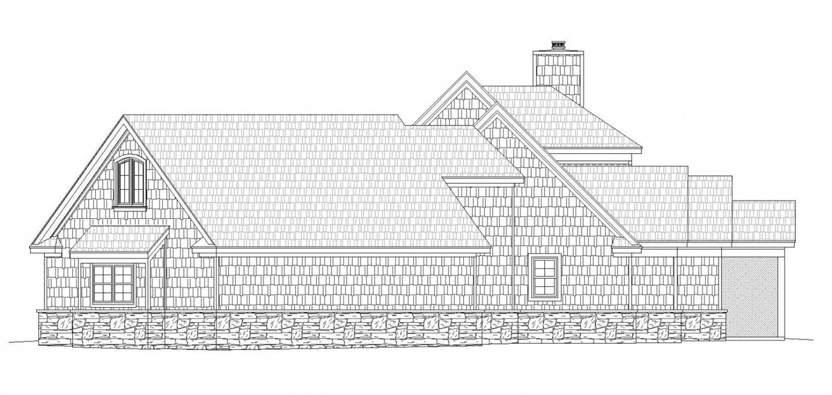 Right Rendering image of Chadwick House Plan