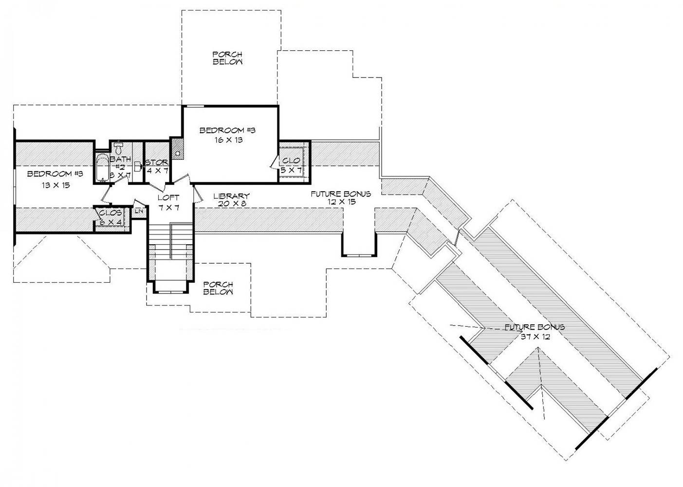 2nd Floor Plan image of Chadwick House Plan