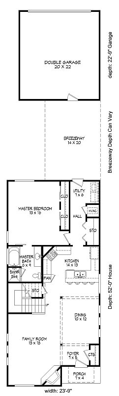 Contemporary house plan with 3 bedrooms and 2 5 baths for Dfd house plans 1897