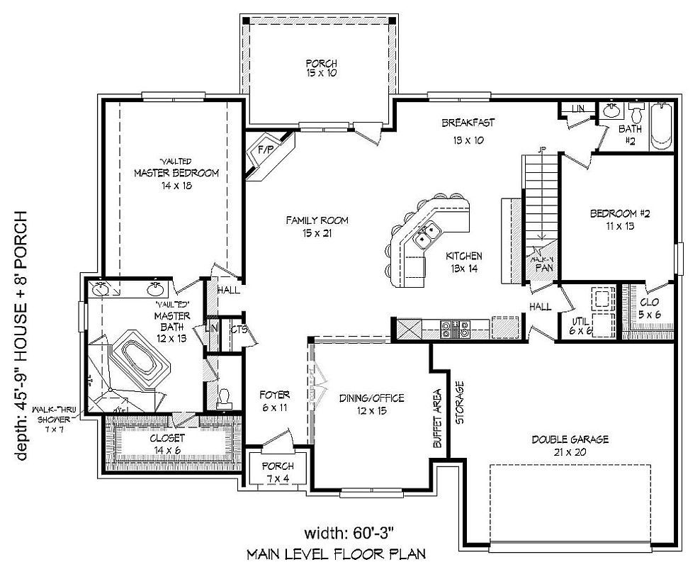 European house plan with 4 bedrooms and 3 5 baths plan 9741 for Dfd house plans 1897