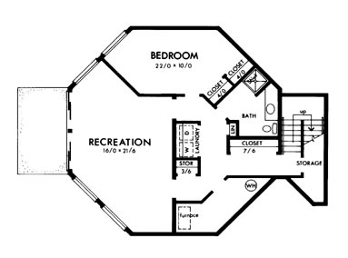 Contemporary house plan with 2 bedrooms and 2 5 baths for Inverted house plans