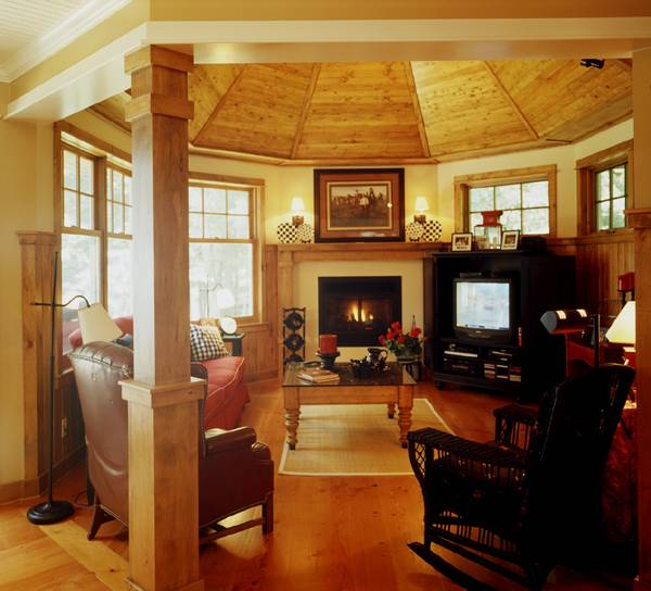 Hearth Room by DFD House Plans