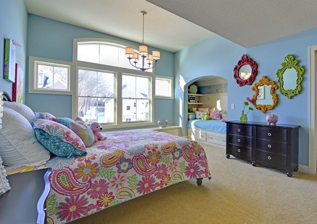 Princess Suite with Sleepover Bunk by DFD House Plans