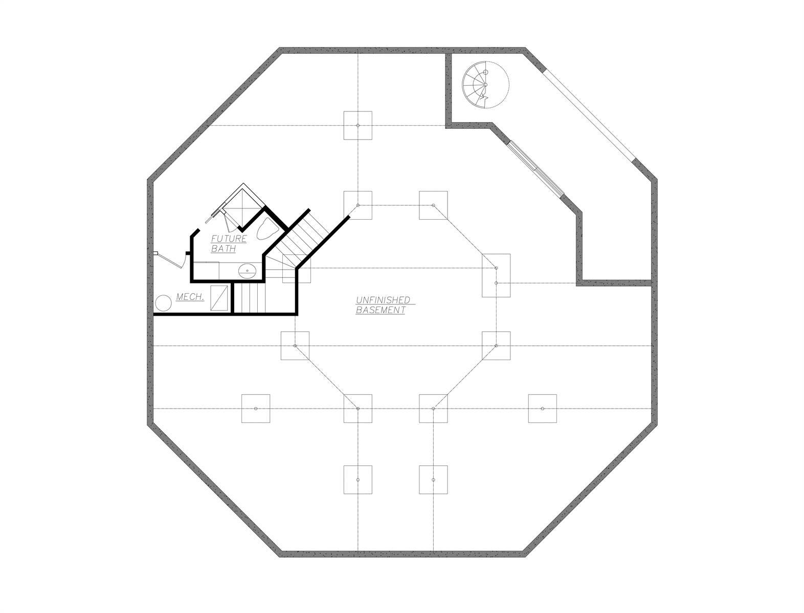 Basement Plan by DFD House Plans