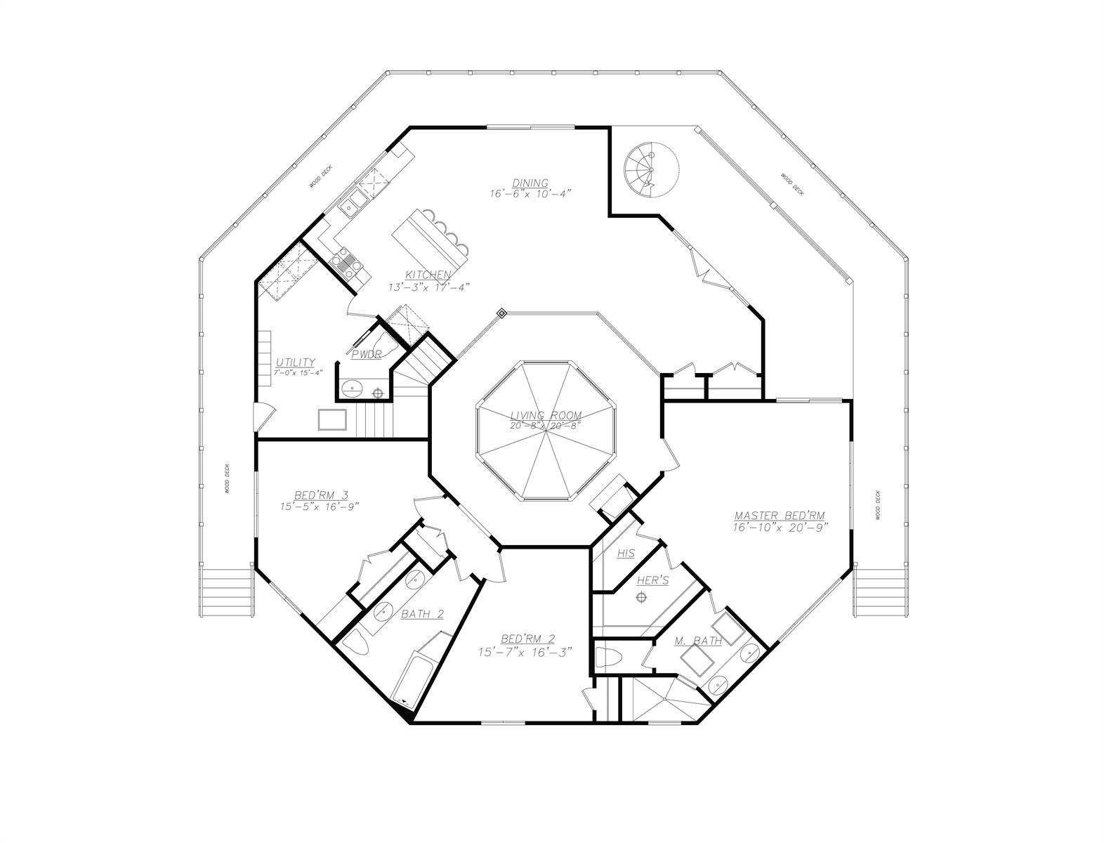 1st Floor image of Eight Corners House Plan