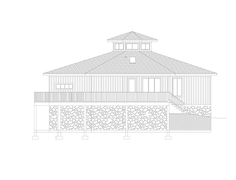 Left View image of Eight Corners House Plan