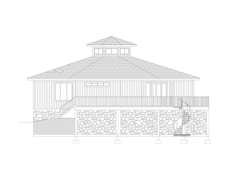 Right View image of Eight Corners House Plan