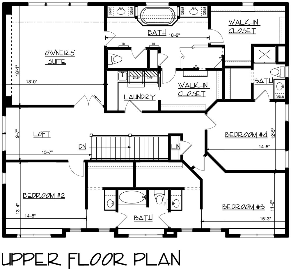 Craftsman House Plan With 5 Bedrooms And 3.5 Baths
