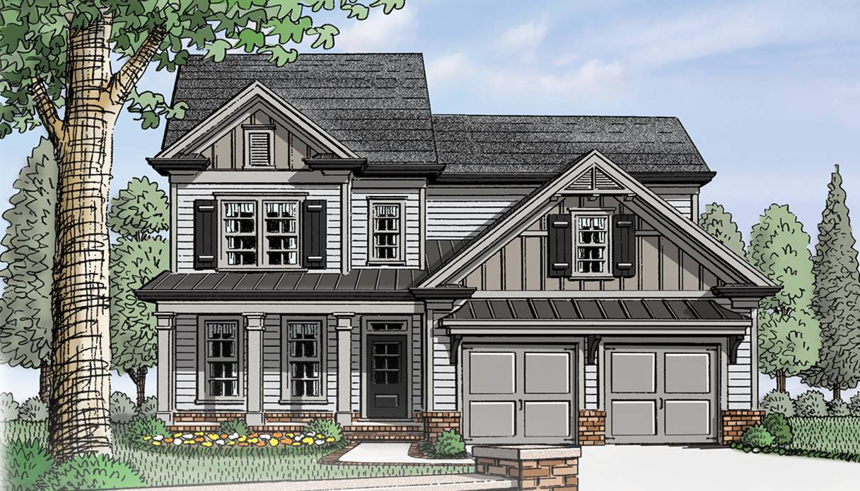 Elevation Rendering by DFD House Plans