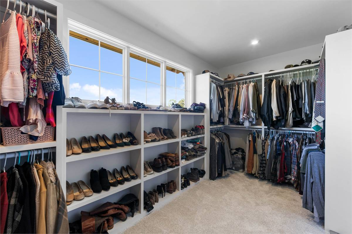 Master Walk-In Closet image of The Durham House Plan