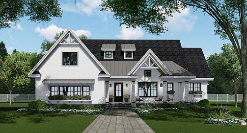 Front Photo image of Country Compton House Plan