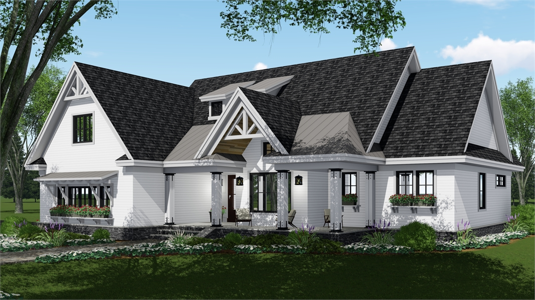 Front Rendering image of Country Compton House Plan