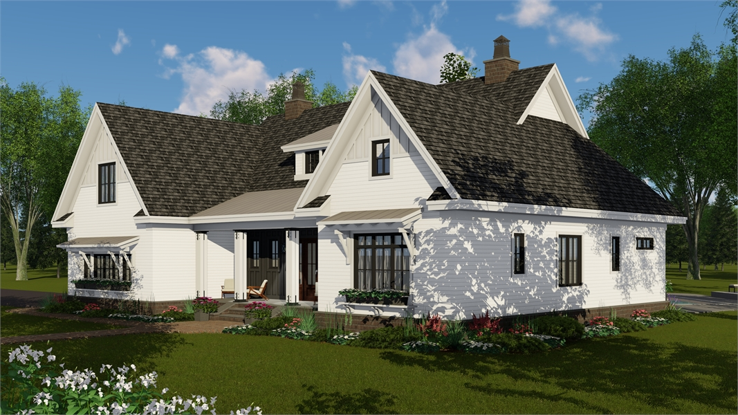 Right Side Rendering image of Glocester House Plan
