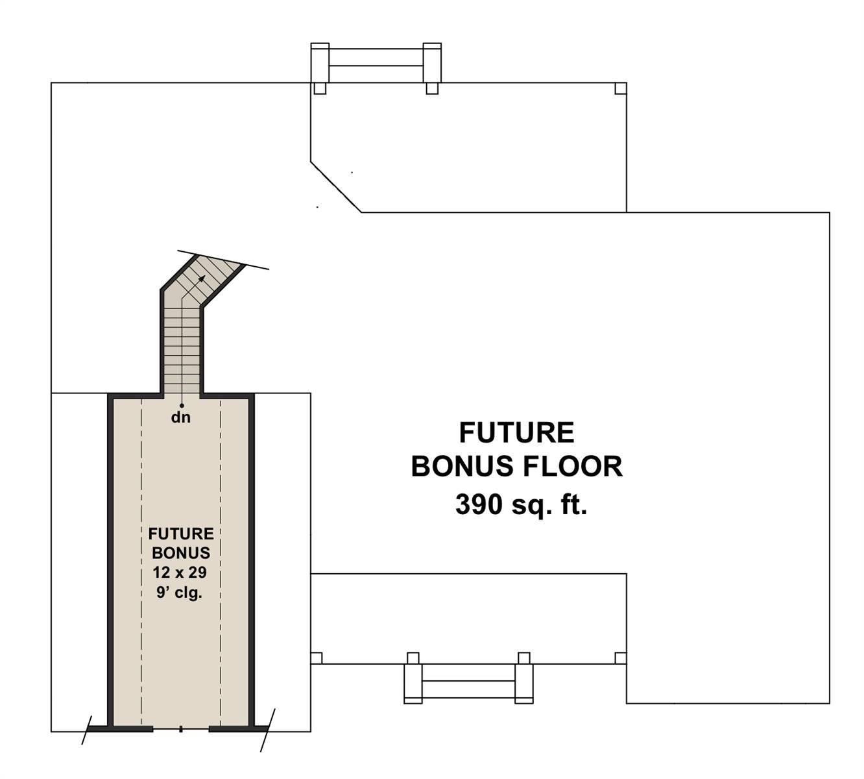Bonus Floor Plan image of Glocester House Plan