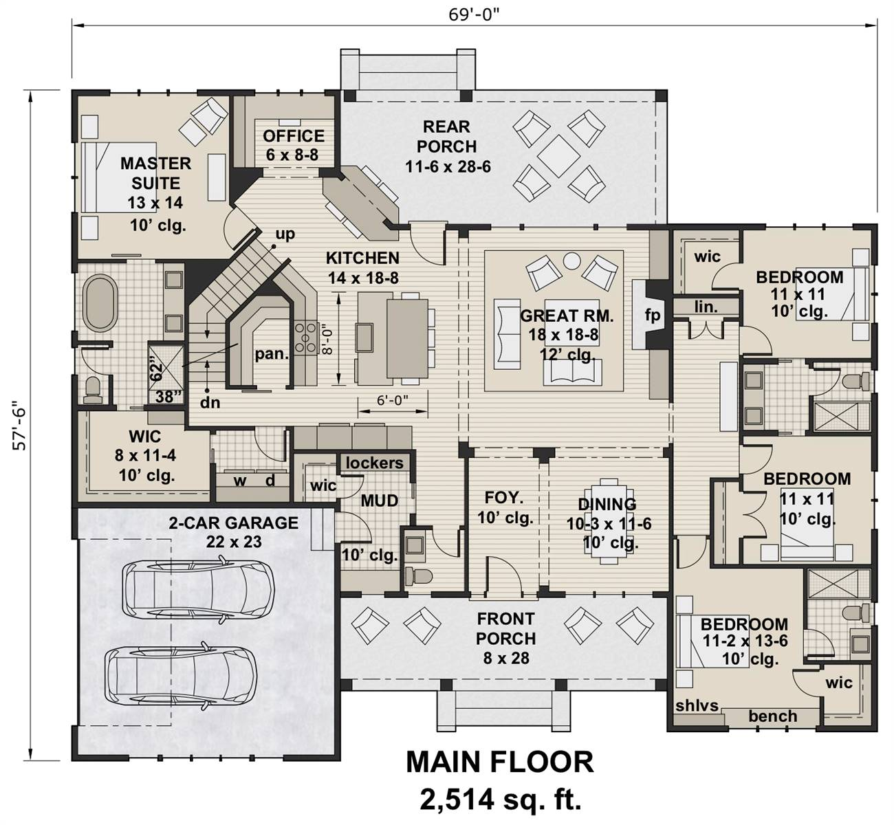 1st Floor Plan image of Glocester House Plan
