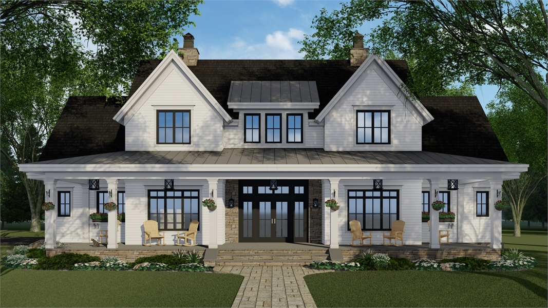 Front View image of Millerville House Plan