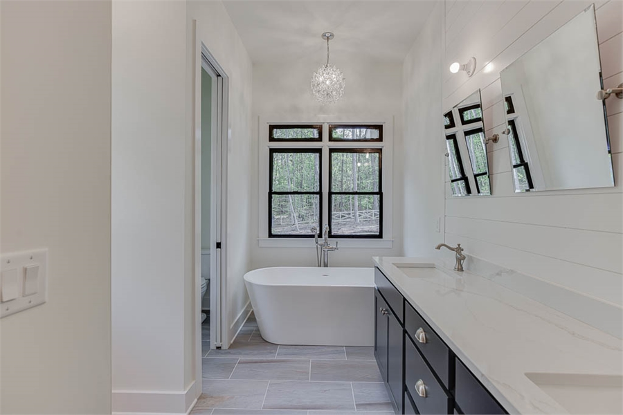 Master Bath image of Tiverton House Plan