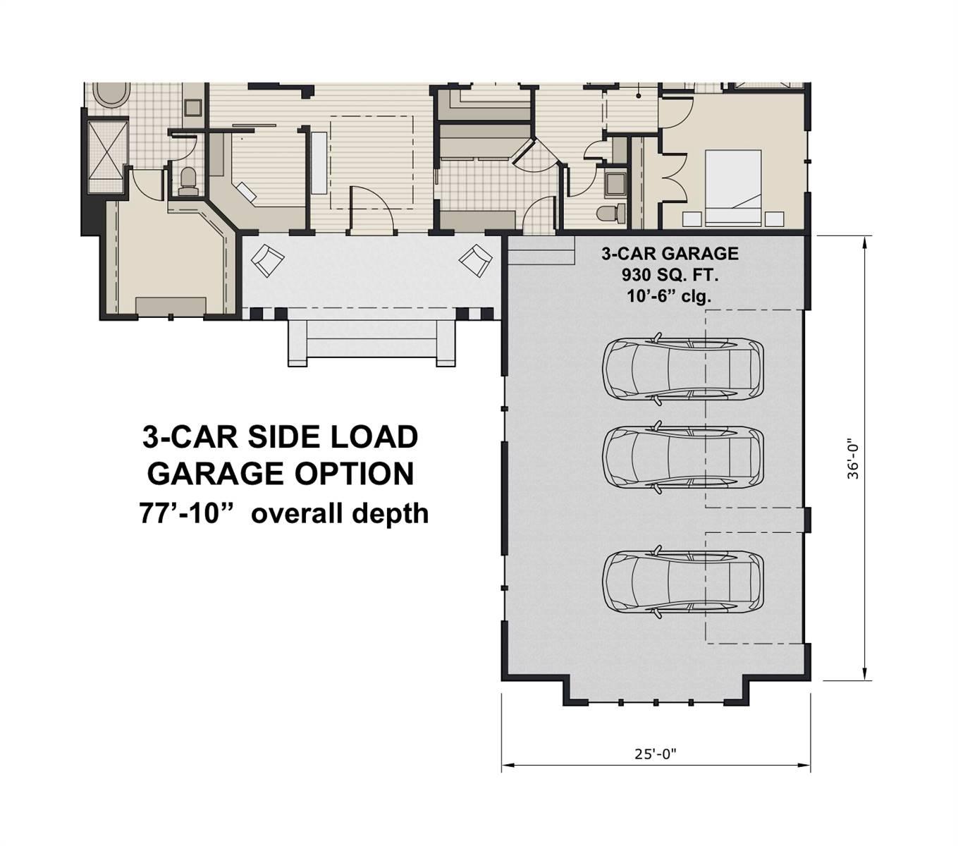 Side Load Garage Option