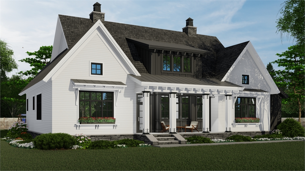 Front Rendering image of Hidden Brook House Plan