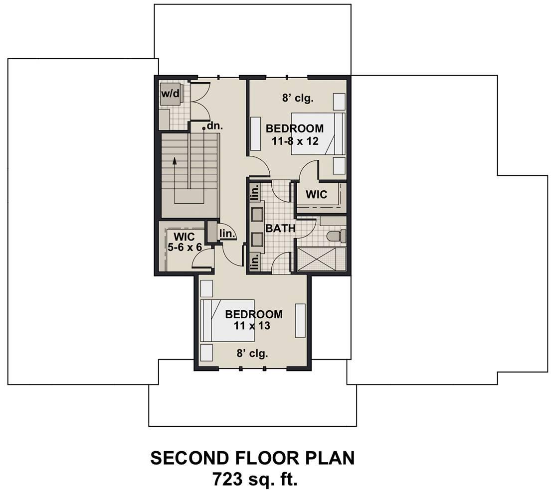 2nd Floor Plan image of Hidden Brook House Plan