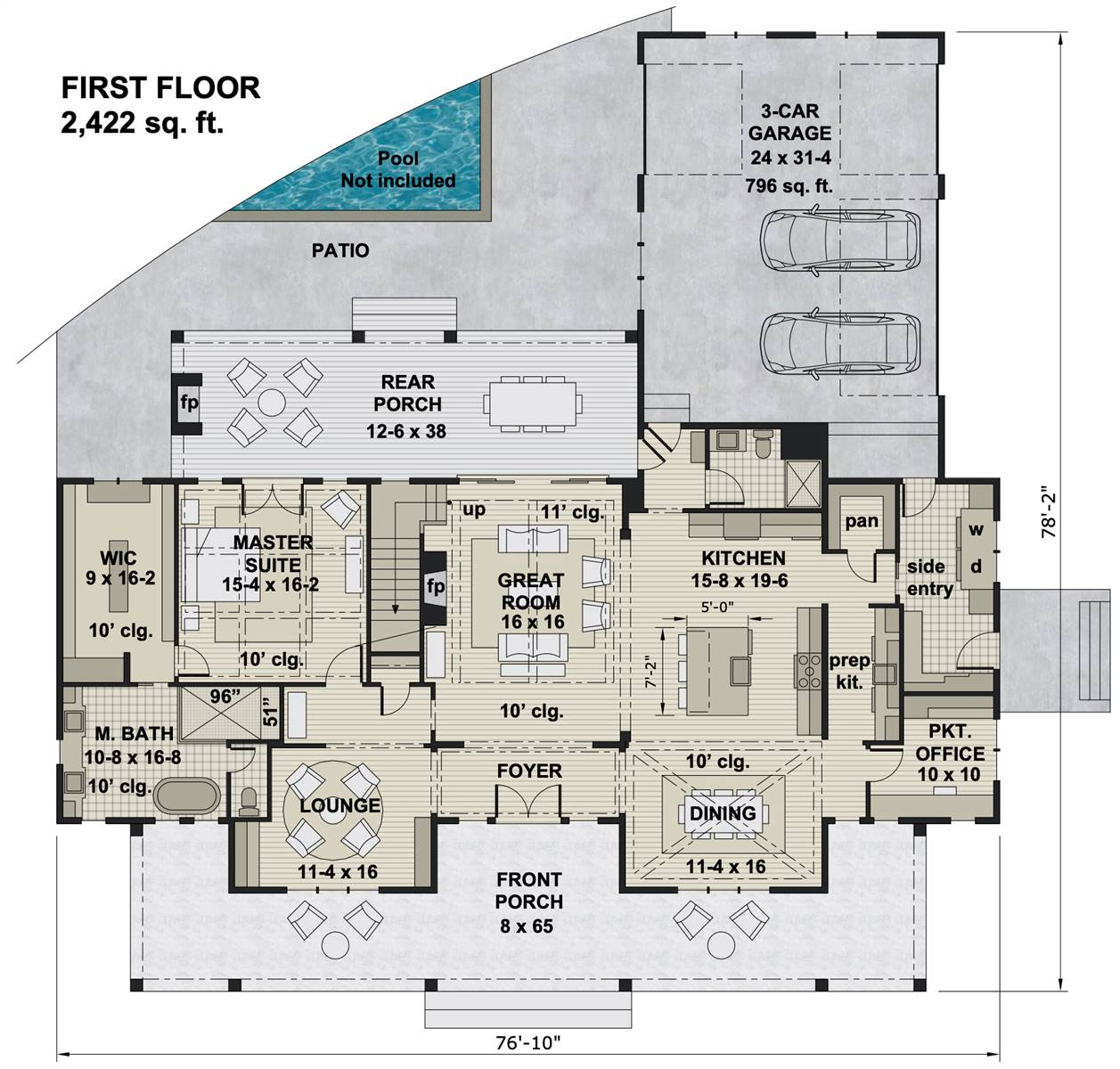 1st Floor image of Ruth Ann House Plan