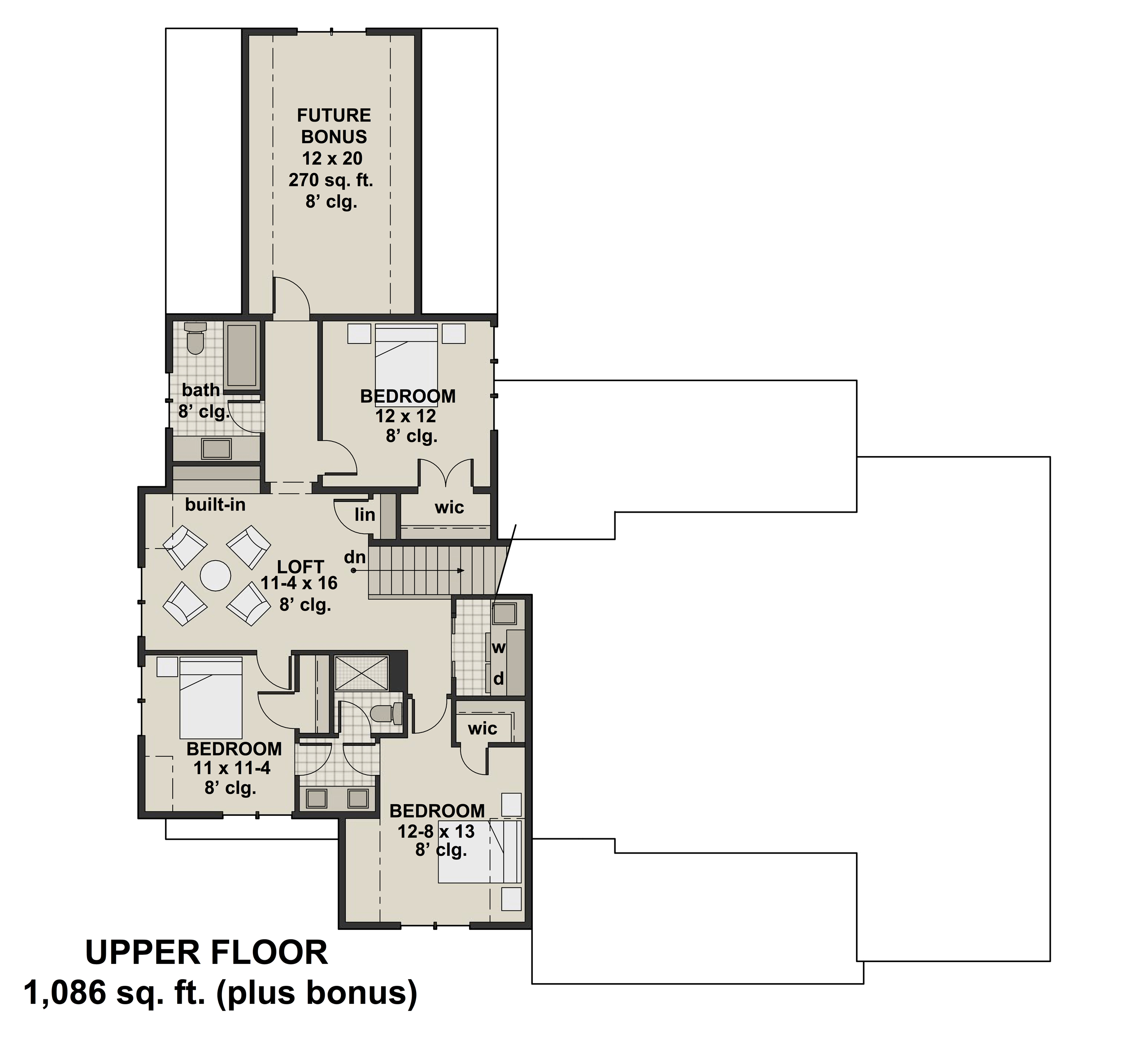 2nd Floor image of Green Acres House Plan