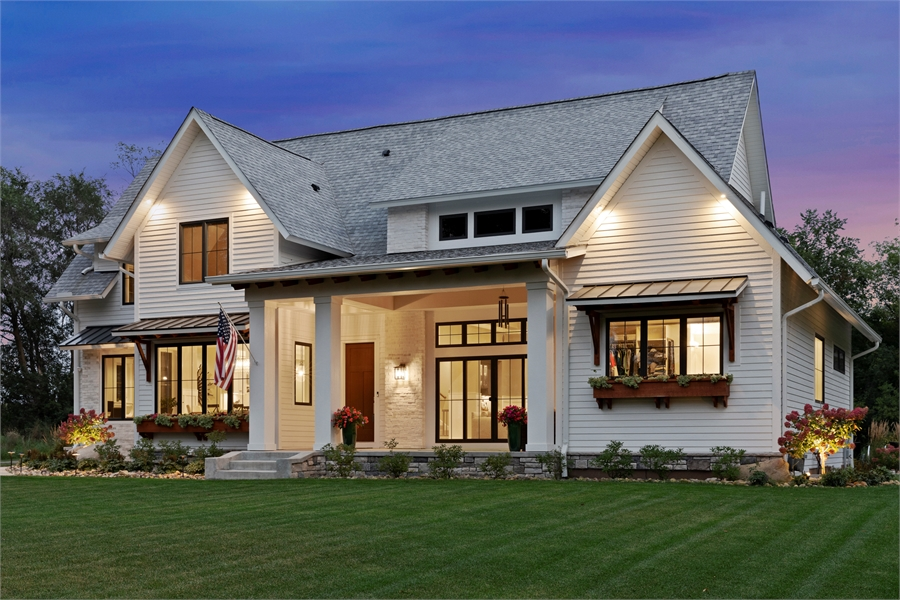 Front View image of Green Acres House Plan