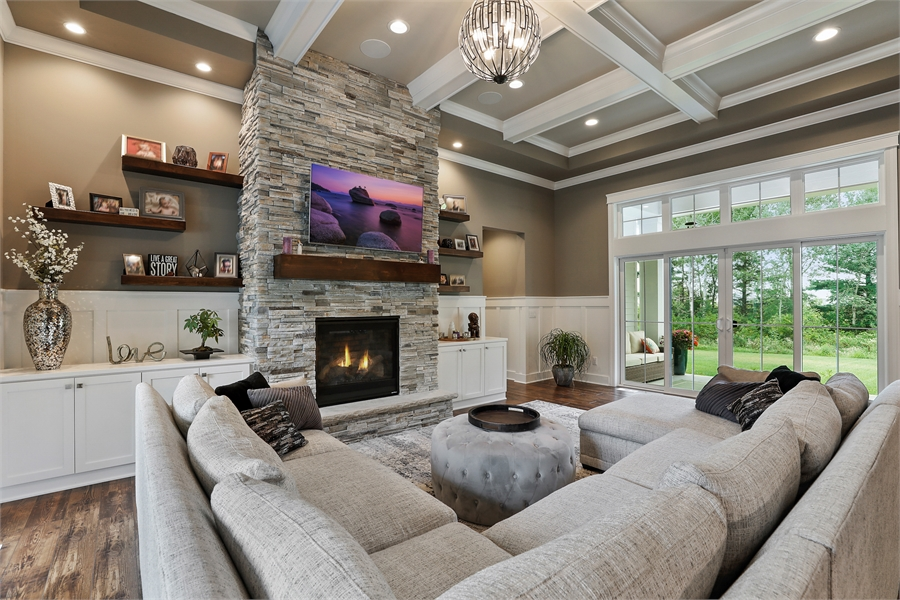 Great Room image of Green Acres House Plan
