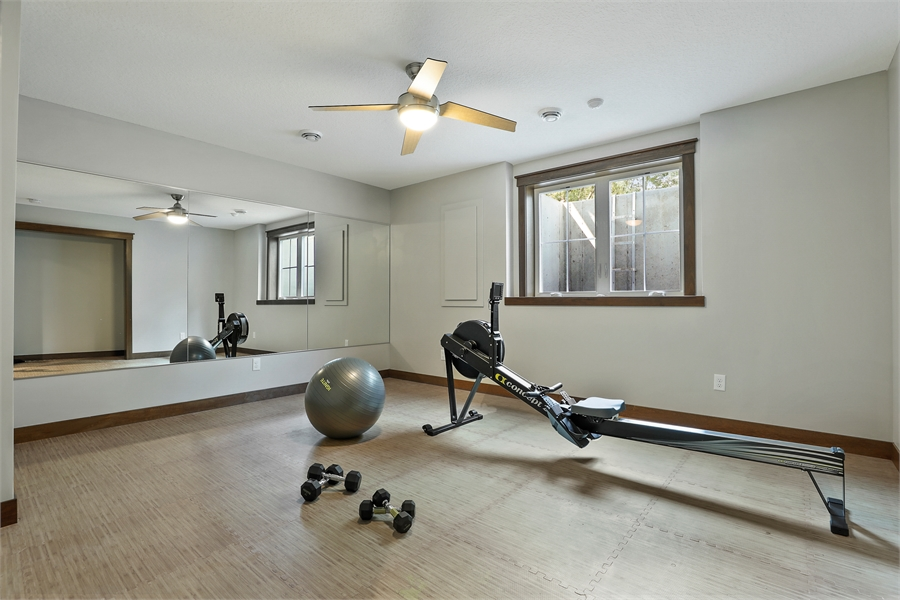 Gym image of Green Acres House Plan