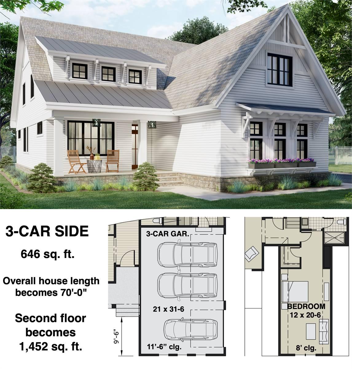 3-Car Side Entry Option