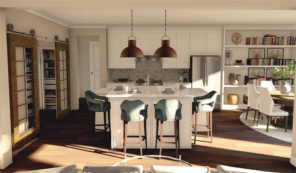 Kitchen image of Litchfield House Plan