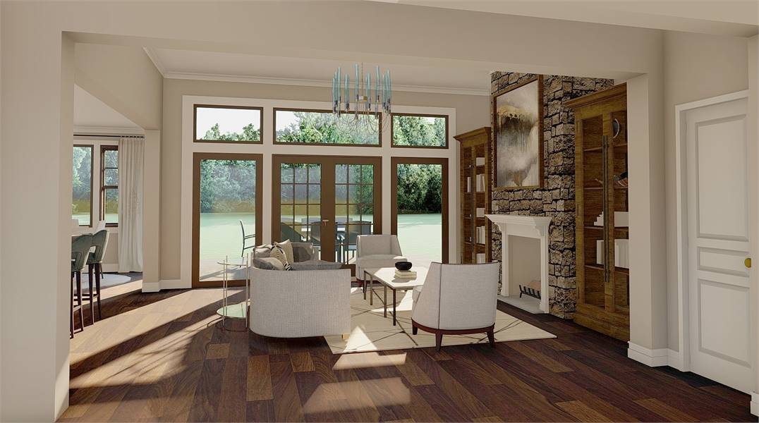 Great Room image of Litchfield House Plan