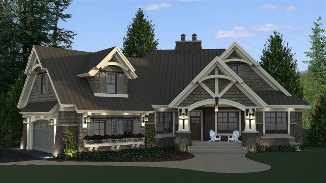 Front View image of Litchfield House Plan