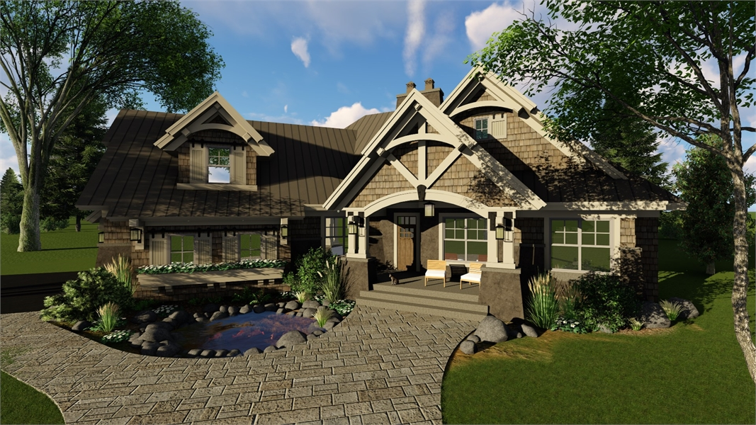 Front Rendering image of Litchfield House Plan
