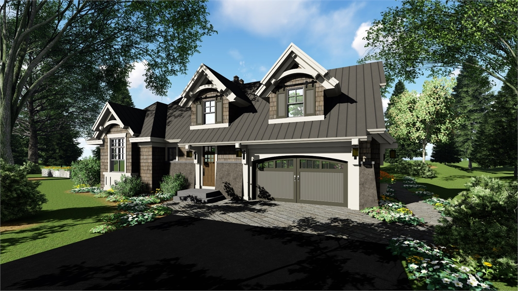 Left Side Rendering by DFD House Plans