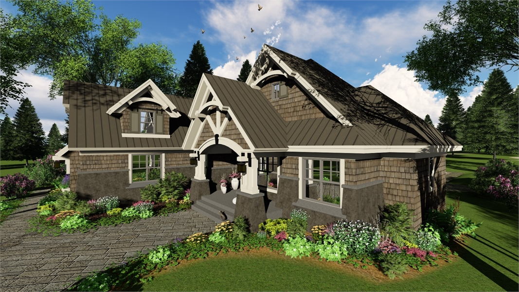 Right Side Rendering by DFD House Plans