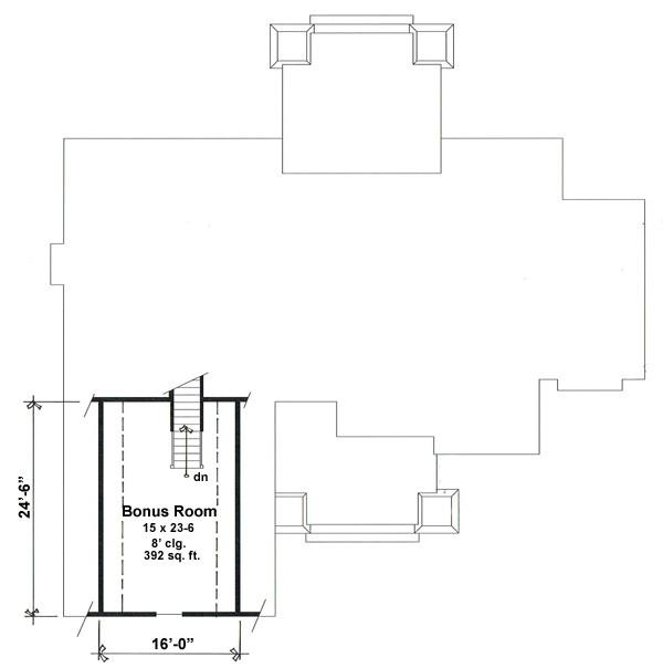 Bonus Floor Plan image of Cranston House Plan