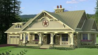 One-Story, Country House Plans by DFD House Plans